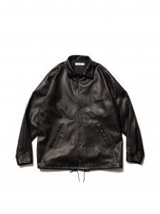 COOTIE (クーティー) Leather Coach Jacket (レザーコーチジャケット) Black