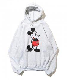 【残り1点】DELUXE (デラックス) DELUXE x Disney Pullover sweat(ディズニープルオーバーパーカー) GRAY