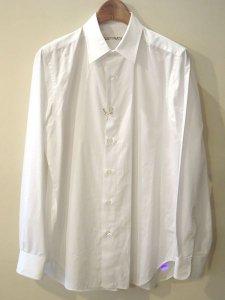 【残り1点】WACKO MARIA (ワコマリア) REGULAR COLLAR DRESS SHIRT (BRO) (ドレスシャツ) White
