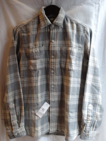 RRL cotton flannel shirts Gray
