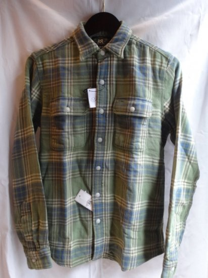 RRL cotton flannel shirts Green