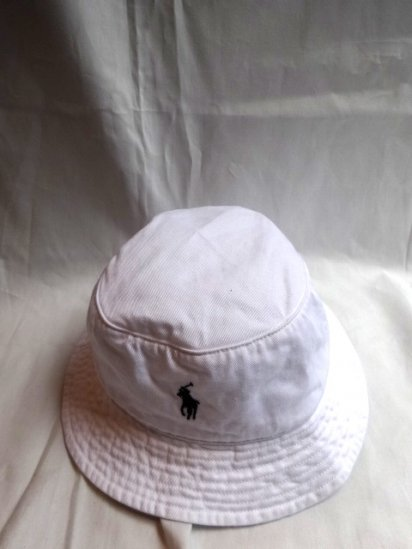 Ralph Lauren Bucket Hat White