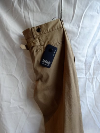 Equipage Made in Italy Pleated Front Stretch Trousers<BR>Khaki<BR>SALE! 25,000 + Tax → 17,500 + Tax