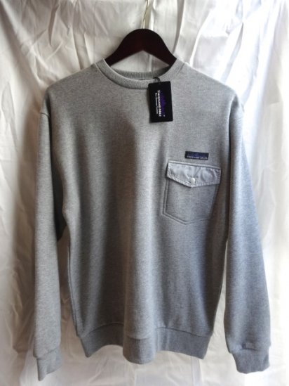 Thousand Mile Snap Pocket Sweat  Shirts Gray<BR>SALE! 7,800 + Tax → 4,680 + Tax