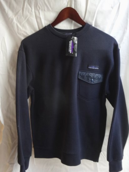 Thousand Mile Snap Pocket Sweat Shirts Navy<BR>SALE! 7,800 + Tax → 4,680 + Tax