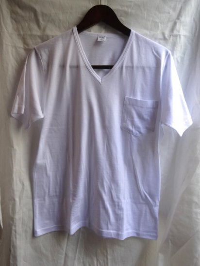 Gicipi V neck Pocket-T MADE IN ITALY White
