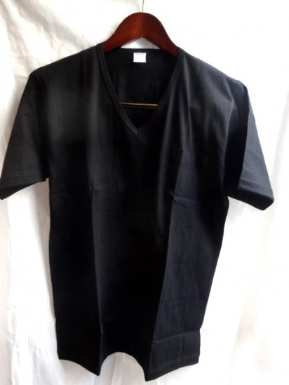 Gicipi V neck Pocket-T MADE IN ITALY Black