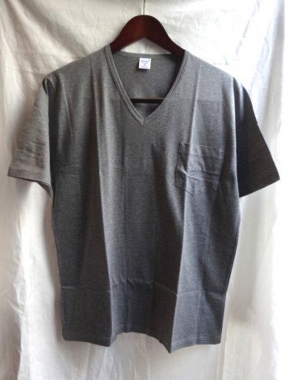 Gicipi V neck Pocket-T MADE IN ITALY Gray
