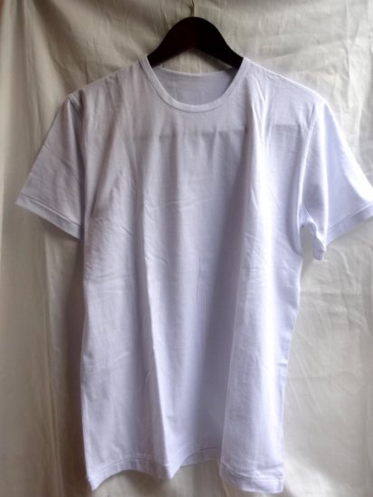 Made in Britain<BR>Binder Crew Neck T-Shirts White
