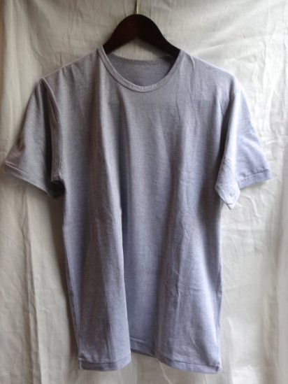 Made in Britain<BR>Binder Crew Neck T-Shirts Gray