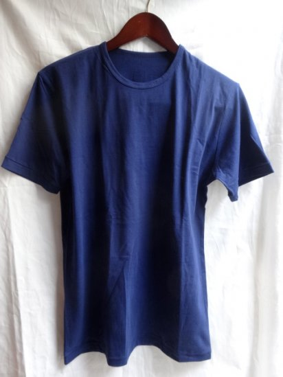 Made in Britain<BR>Binder Crew Neck T-Shirts Navy