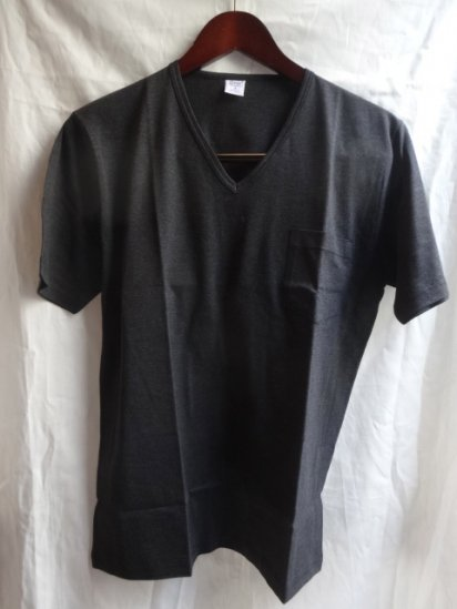 Gicipi V neck Pocket-T MADE IN ITALY Chacoal
