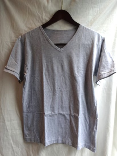 Made in Britain<BR>Binder V Neck Gray