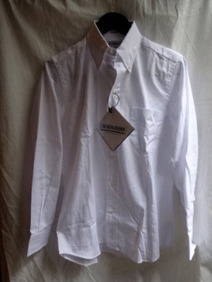 ILLMINATE 別注 INDIVIDUALIZED SHIRTS Pin-Oxford 6 Button <BR>MADE IN U.S.A <BR>White
