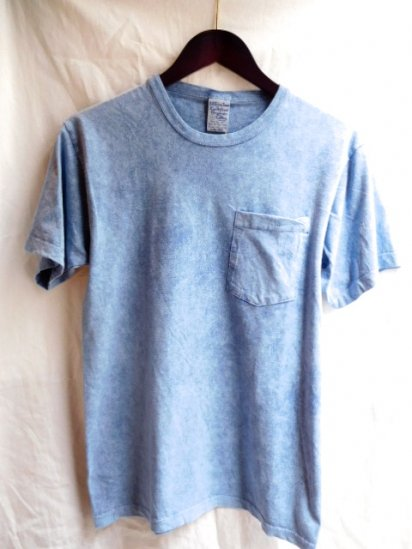 S.O.S Organic Cotton Pocket Tee Grown and Sewn in The U.S.A Blue