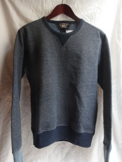 RRL V-Gazette Sweat Shirts Navy & Indigo