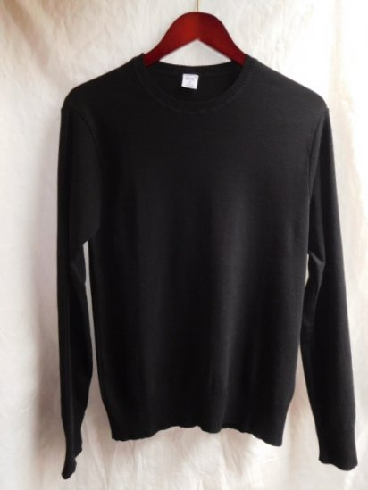 Gicipi Cotton Knit Made in Italy Black