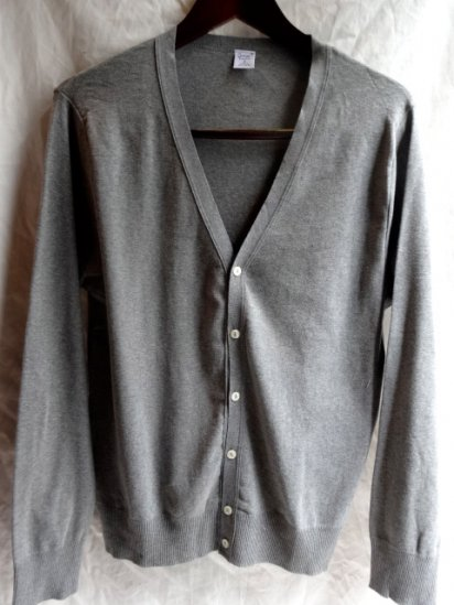 Gicipi Cotton Knit Cardigan Made in Italy Gray