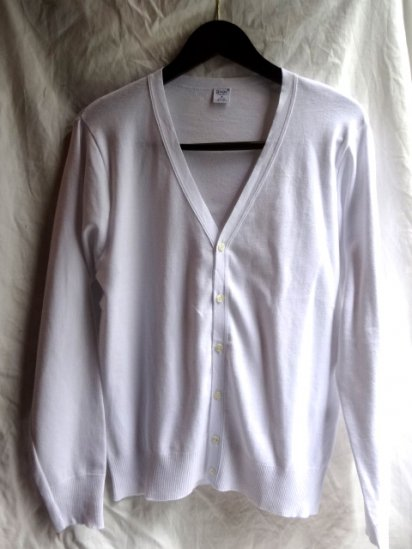 Gicipi Cotton Knit Cardigan Made in Italy White