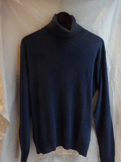 Gicipi Cotton Knit Turtle Made in Italy Navy