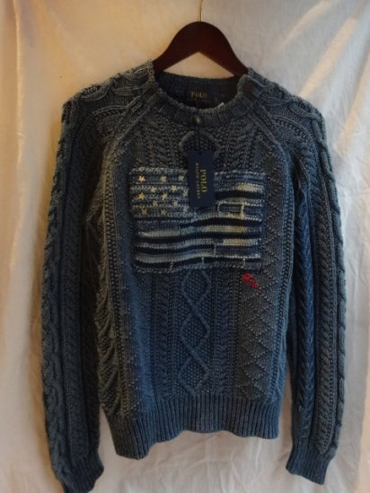 Ralph Lauren Indigo Flag Cotton Knit