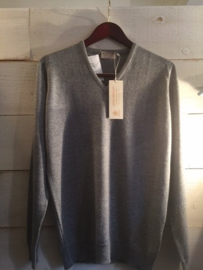 JOHN SMEDLEY Cashmere 100% Knit MADE IN ENGLAND