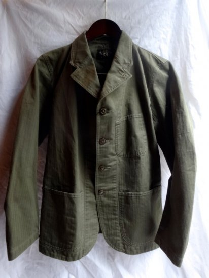 RRL Herringbone Twill Lapeled Work Jacket