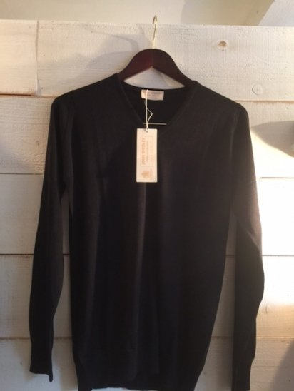 JOHN SMEDLEY Cashmere & Silk Crew Knit MADE IN ENGLAND