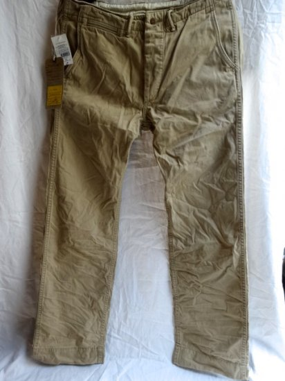 RRL Military Chino Pants Khaki Beige