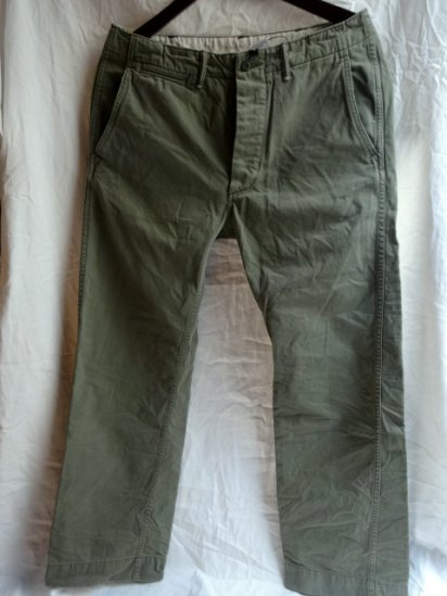 RRL Military Chino Pants Olive Green