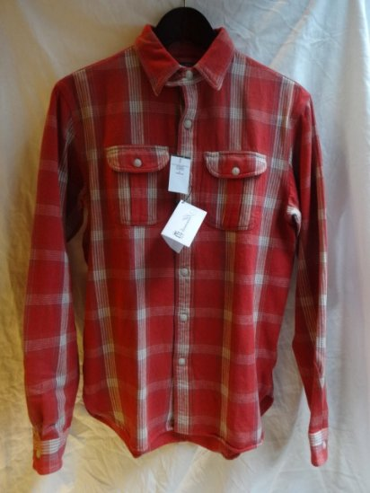 RRL cotton flannel shirts Red