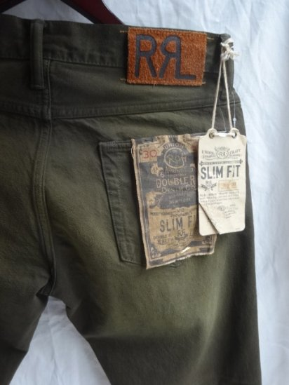 RRL SLIM FIT Denim Pants Olive