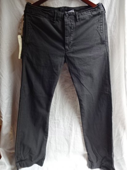RRL Garment Dye Trousers Faded Black