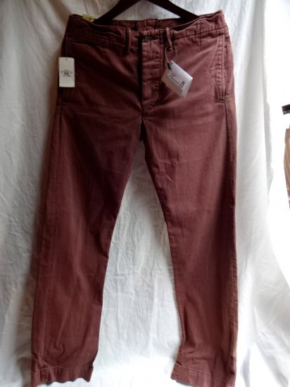 RRL Garment Dye Trousers Faded Wine