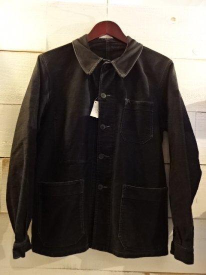 50's~Vintage French Black Moleskin Work jacket