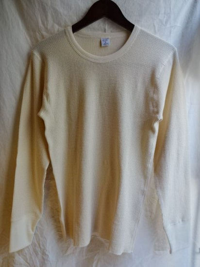 Gicipi Cotton Heavy Waffle Crew Neck L/T Made in ITALY/Natural