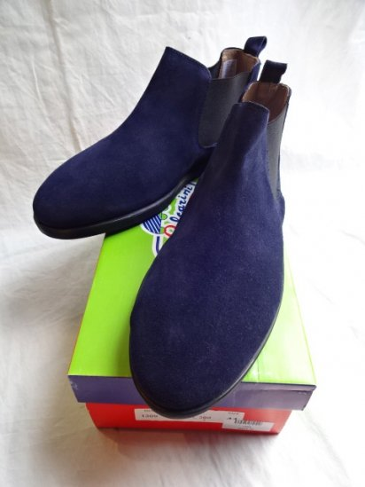 Vulcarini Side Gore Boots Made in Spain Navy
