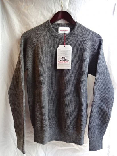 Vincent et Milleire Crew Neck Sweater 8GG AZE Gray