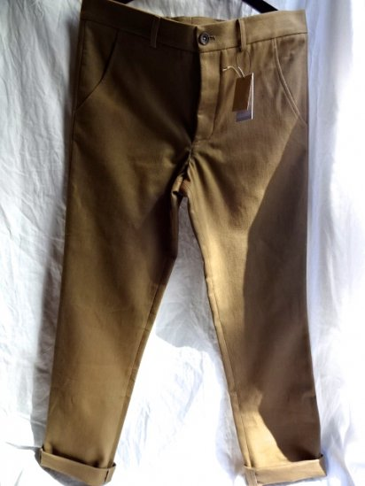 S.E.H KELLY Lancastrian Heavy Cotton Twill Narrow Trousers Made in England