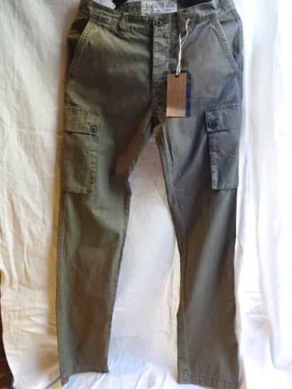 Jack Wills Narrow Cargo Pants Olive