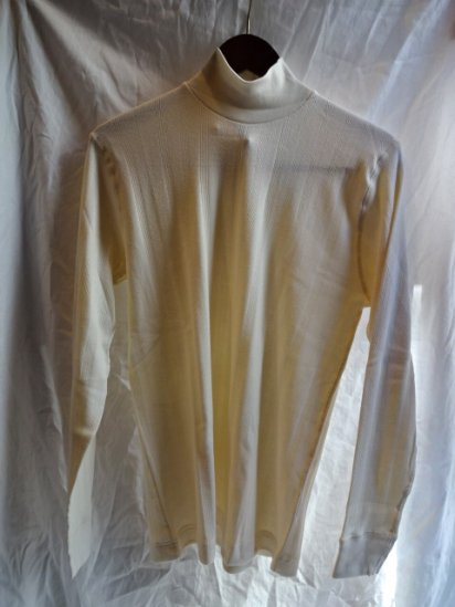 Gicipi Vintage Interlock Mock Neck L/T Made in Italy Natural