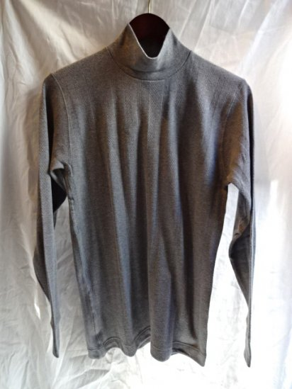 Gicipi Vintage Interlock Mock Neck L/T Made in Italy Gray