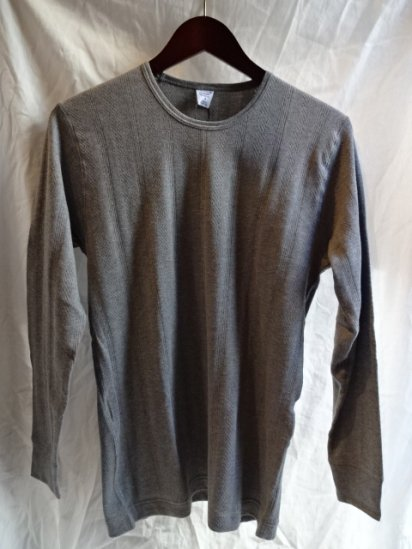 Gicipi Vintage Interlock Crew Neck L/T Made in Italy  Gray