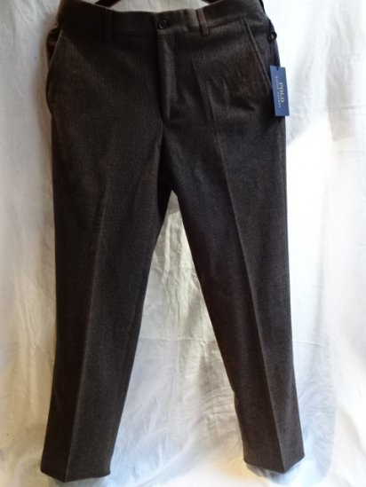 Ralph Lauren Wool Trousers Made in Italy Micro H/T