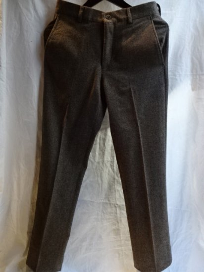 Ralph Lauren Wool Trousers Made in Italy Brown Birds Eye