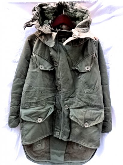50's Vintage British Army Cold Weather Middle Parka Size1