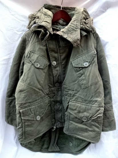 50's Vintage British Army Cold Weather Middle Parka Size3