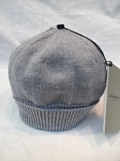 JOHN SMEDLEY Merino Wool Knit Cap MADE IN ENGLAND Gray