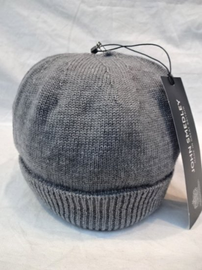 JOHN SMEDLEY Merino Wool Knit Cap MADE IN ENGLAND M.Gray