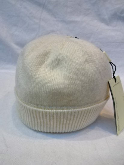 JOHN SMEDLEY Merino Wool Knit Cap MADE IN ENGLAND Natural